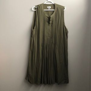 Green casual knee length dress